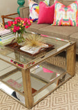 Reed Mirrored Coffee Table
