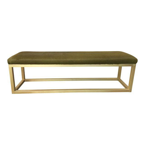 Kelly Bench, Amazon Green Cowhide