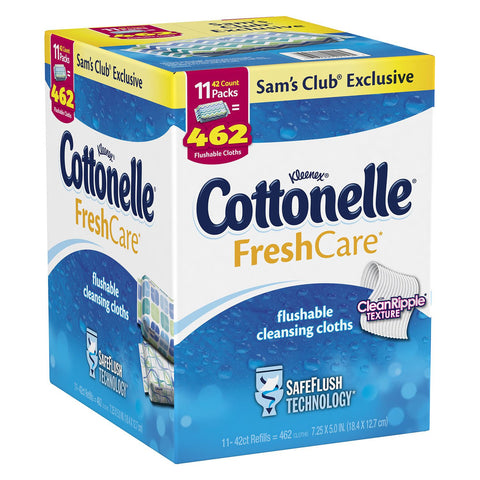 Kleenex Cottonelle FreshCare Flushable Cleansing Cloths - 462 Cloths - RokBuy - Personal Care -