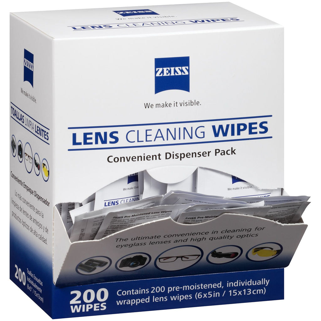 Zeiss Pre-Moistened Lens Cloths Wipes - Various Quantities Available - RokBuy - Personal Care - 200 ct. - 1