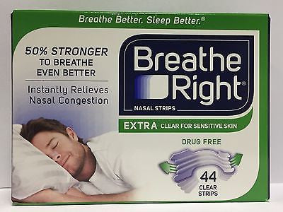 44 Breathe Right Extra Nasal Strips One Size Fits All Clear -  Nose Sleep Strips - RokBuy - Health -  - 1