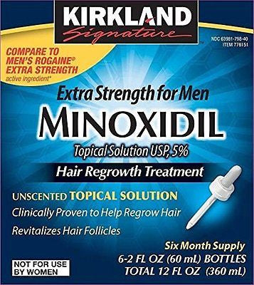 Kirkland Minoxidil 5% Extra Strength Men's 6 Month Supply Hair Regrowth Solution - RokBuy - Personal Care -  - 1