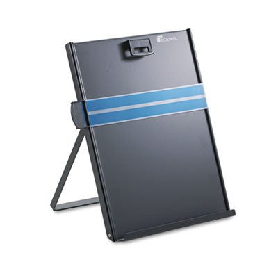 Fellowes Metal Copyholder, Stainless Steel, 200 Sheet Capacity - Black - RokBuy - Office -
