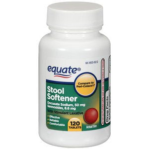 Equate Stool Softener with Stimulant Laxative, 120 Tablets - RokBuy - Health personal care -