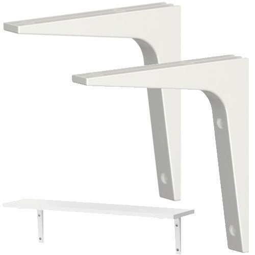 Ikea Shelf Bracket, Pack of 2 - Various Colors Available - RokBuy - Home - White - 1