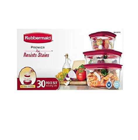 Rubbermaid Premier BPA-Free Food Storage Set - 30 piece - RokBuy - Home -