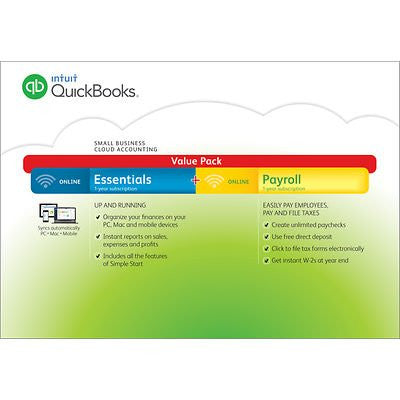 QuickBooks Online Essentials with Online Payroll 2015 - RokBuy - Office products -