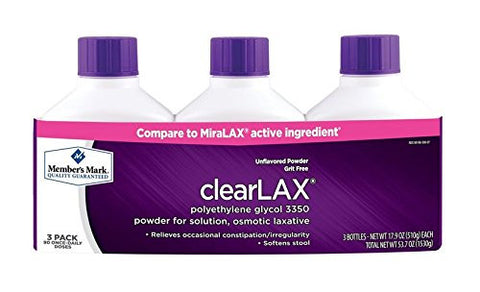 Member's Mark Clearlax 3 Pack, 17.9-Ounce, 90 Daily Doses - RokBuy - Health -