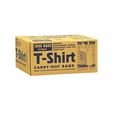 T-Shirt Plastic Carry-Out Bags (1,000 ct.) - RokBuy - Office -