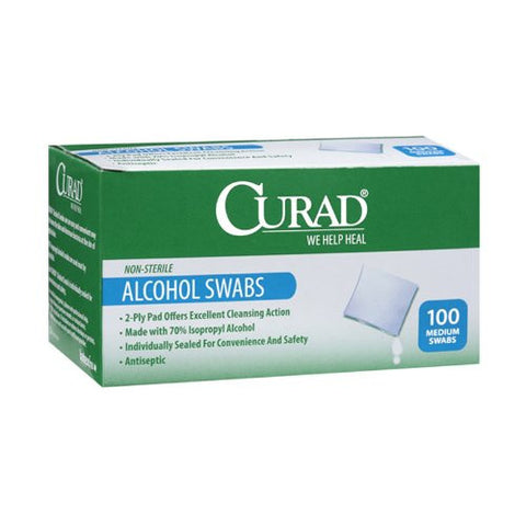 Curad Sterile Alcohol Swabs Medium Size Medical Isopropyl Wipes - Various Quantities - RokBuy - Health -