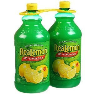 Realemon 100% Lemon Juice - 8 Pack/48 Oz. Btls. - RokBuy - Grocery -
