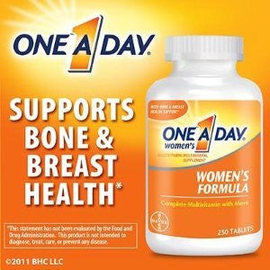 One-A-Day Women's Formula Complete Multivitamin 300 Tablets Bone Health Skin Health - RokBuy - Health personal care -