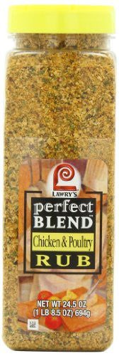 Lawry's Perfect Blend Chicken & Poultry Rub, 24.5 Ounce - RokBuy - Food -  - 1