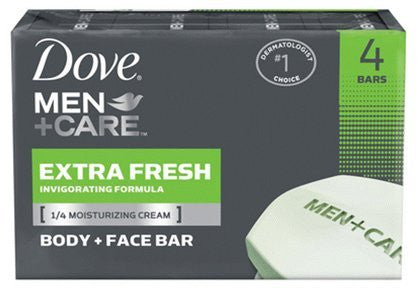 Dove Men +Care Body & Face Bar, Extra Fresh, 17 oz, 4 ct (Quantity of 3) - RokBuy - Personal care appliance -