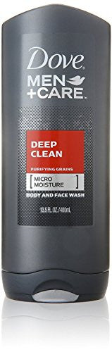 Dove Men+Care Deep Clean Body and Face Wash, 13.5 oz (Pack of 3) - RokBuy - Beauty -
