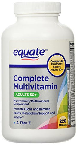 Equate - Adults 50+ Multivitamin - 220 ct. - RokBuy - Health -
