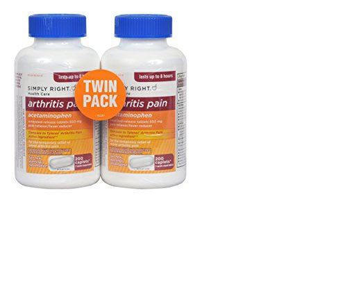 Simply Right Joint Pain Capsules - 200 ct, 650 mg (2 Pack) - RokBuy - Health personal care -