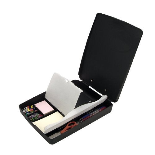 Officemate Extra Storage and Supply Clipboard Box, Charcoal - RokBuy - Office -