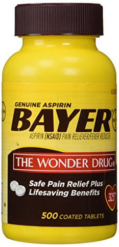 Bayer Genuine Aspirin 325mg. - 500ct. - RokBuy - Health -