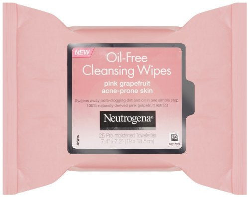Neutrogena Pink Grapefruit Oil-Free Cleansing Wipes (Quantity of 4) - RokBuy - Health personal care -
