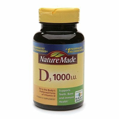 Nature Made Vitamin D3 1000 I. U., 600 Softgels - RokBuy - Health personal care -