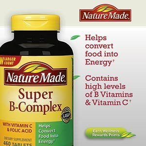 Super B-Complex with Vitamin C & Folic Acid 460 Tablets Nature Made®---Mother's Day Gift - RokBuy - Grocery -