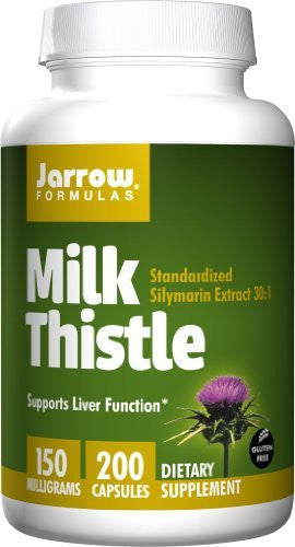 Jarrow Formulas Milk Thistle Standardized Silymarin Extract 30:1 Ratio, 150 mg per Capsule, 200 Gelatin Capsules - RokBuy - Health personal care -