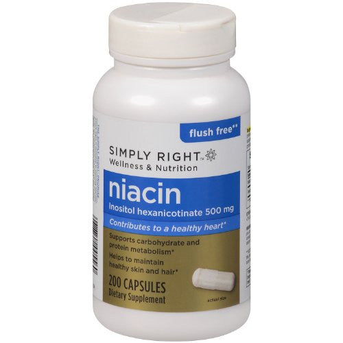 Simply Right Flush Free Niacin Dietary Supplement (200 capsules) - RokBuy - Health personal care -