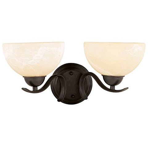 Design House Wall Mount 2 Light Trevie Collection, Bronze - RokBuy - Home -