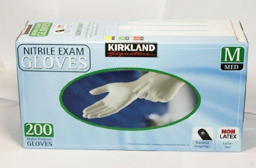 Nitrile Exam Gloves 200/Medium - RokBuy - Health personal care -