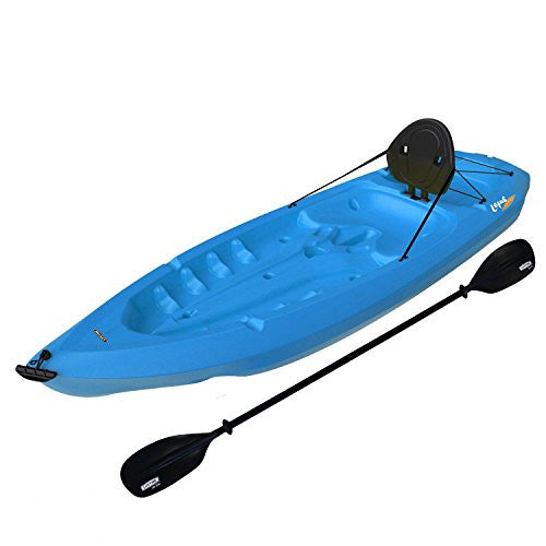 Lifetime Adult Kayak with Paddle and Backrest-Blue - RokBuy - Patio and Outdoor -
