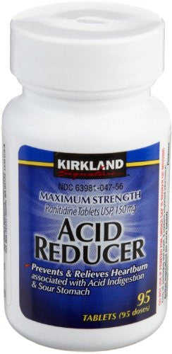 Kirkland Signature Maximum Strength Acid reducer Ranitidine tablets USP 150MG New Value Size Package 570 Tablet - RokBuy - Health personal care -