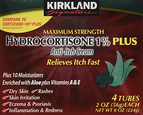 Kirkland Hydrocortisone %1 Cream 4 Tubes 2oz Each - RokBuy - Health personal care -