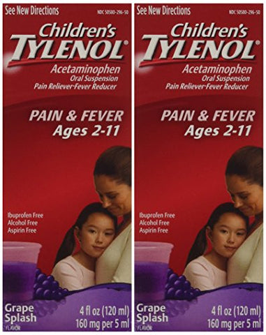 Children's Tylenol, Grape Flavor - 2 pack of 4.0 FL OZ - RokBuy - Health -