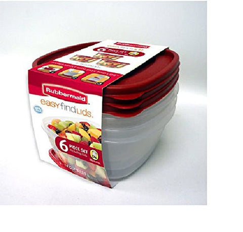 Rubbermaid 6 Piece Easy Find Lids Set - RokBuy - Home -