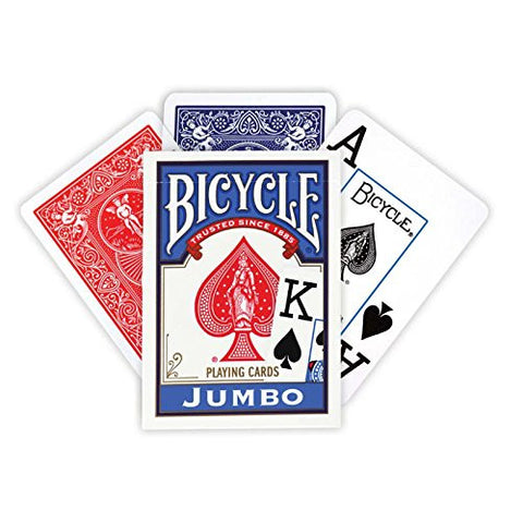 Bicycle Poker Size Jumbo Index Playing Cards (Colors May Vary) - RokBuy - Home -