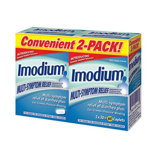 Imodium Multi-Symptom Relief , 30 ct - 2 Packs - RokBuy - Health personal care -