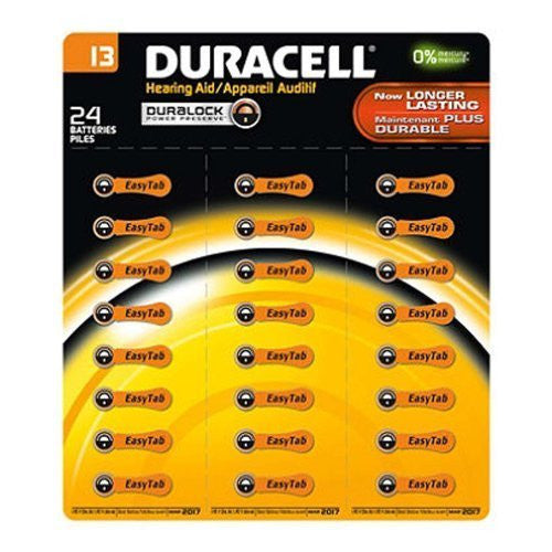Duracell Duralock 24pk Hearing Aid Device Battery 1.4v Zinc Size 13 - RokBuy - Personal care appliance -