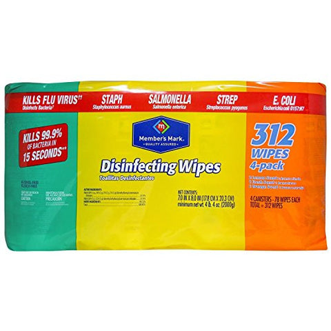 Member's Mark Disinfecting Wipes, Variety Pack (4 pk., 78 ct. each) - RokBuy - Office -