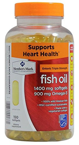 Member's Mark - Omega 3, Fish Oil 1400 mg (900 mg EPA/DHA), Enteric Coated, 150 Softgels - RokBuy - Health personal care -