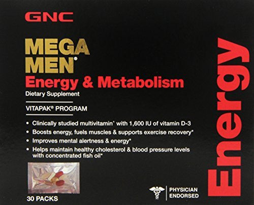 GNC Mega Men Energy and Metabolism Capsules, 30 Count (Pack of 3) - RokBuy - Health personal care -