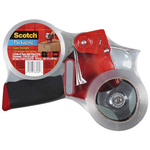 Scotch Packaging Tape Dispenser with 2 Rolls of Tape - RokBuy - Office -  - 1