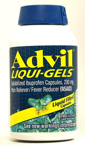 Advil Liqui-Gels®, Ibuprofen 200 mg, Various Quantities - RokBuy - Health - 1 Pack - 1