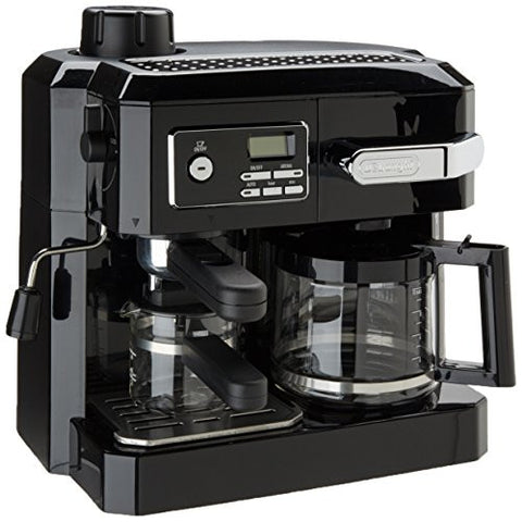 DeLONGHI BCO320T Combination Coffee/Espresso Machine - Black/Silver - RokBuy - Home -