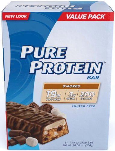 Pure Protein S'mores Value Pack 6-50 Gram Bars (Pack of 2) - RokBuy - Health personal care -