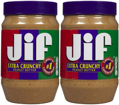 Jif, Extra Crunchy Peanut Butter, 40oz Jar (Pack of 2) - RokBuy - Grocery -