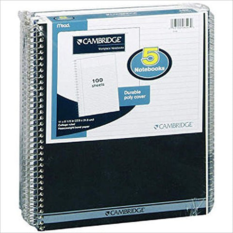 Mead Cambridge Notebooks - 5/100 sheet Pack - RokBuy - Office -