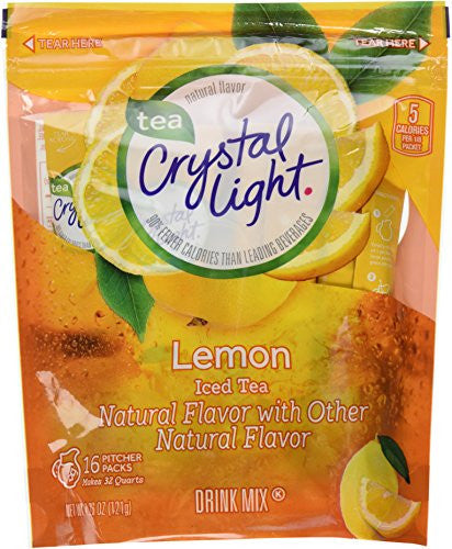 Crystal Light Ice Tea, Natural Lemon, 32 Count 2 Pack of 16ct,64 Quarts - RokBuy - Grocery -