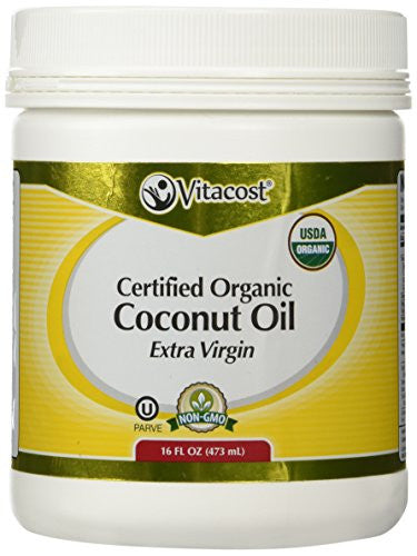 Vitacost Extra Virgin Certified Organic Coconut Oil -- 16 fl oz - RokBuy - Health personal care -