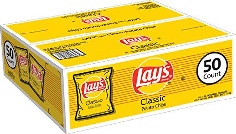 Lays Classic Potato Chips (50 Count) - RokBuy - Food -